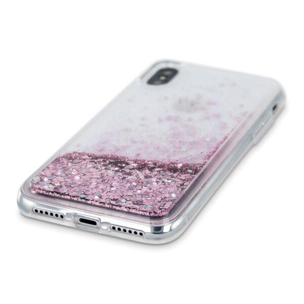 Θήκη Huawei Y7 Prime 2019 Crystal Glitter Ρόζ Χρυσό